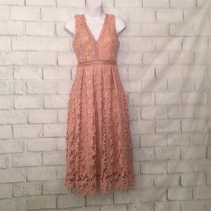 NWT Dusty Pink Romeo & Juliet Lace Dress